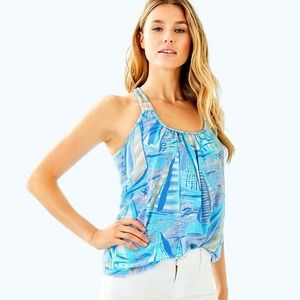 Lilly Pulitzer Aleida Top - Aboat Time